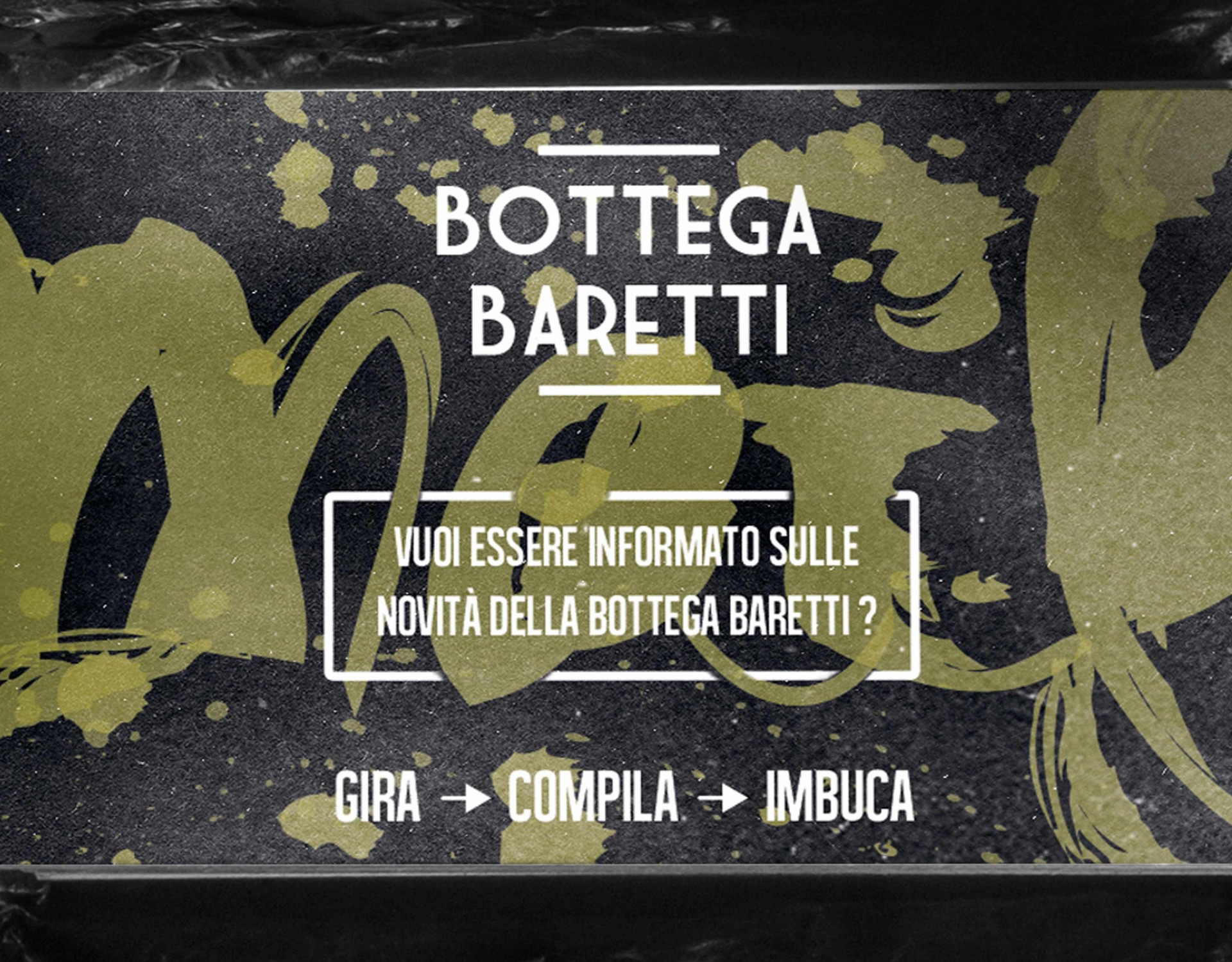 RUBRA Newsletter Bottega Baretti